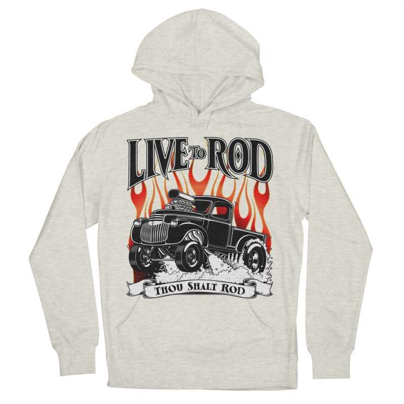 46' Chevy Gasser Pickup - Black Women's French Terry Pullover Hoody by screamnjimmy's Artist Shop