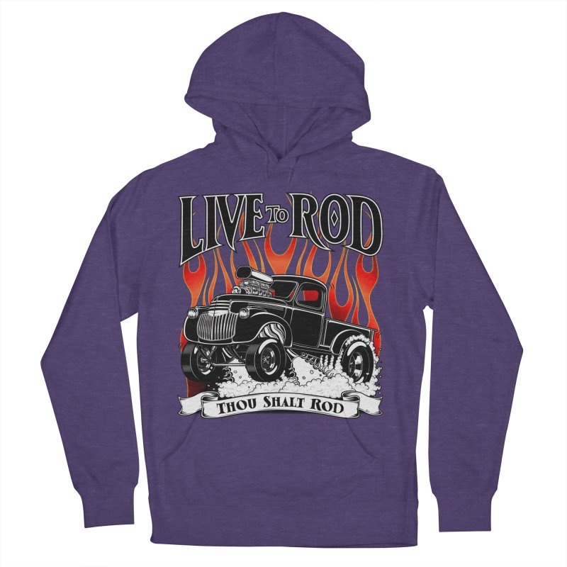 46' Chevy Gasser Pickup - Black Men's Pullover Hoody by screamnjimmy's Artist Shop