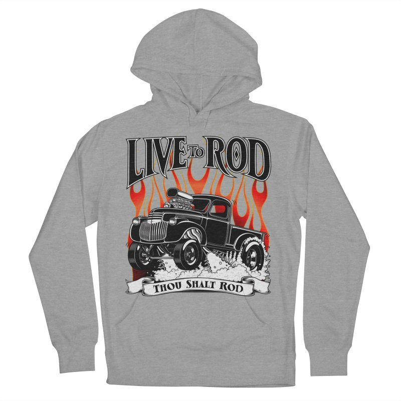 46' Chevy Gasser Pickup - Black Men's French Terry Pullover Hoody by screamnjimmy's Artist Shop