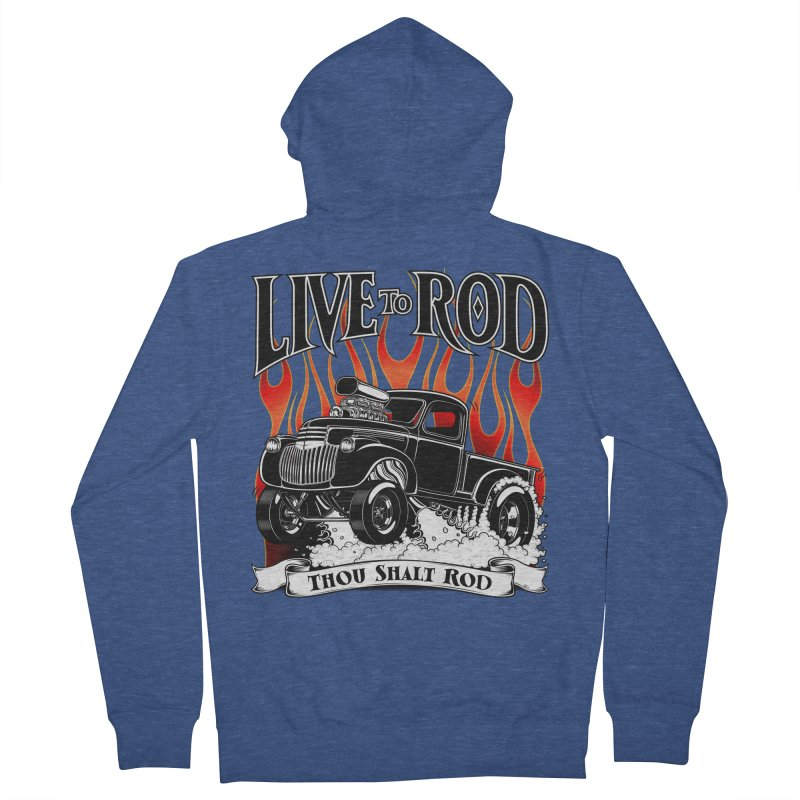 46' Chevy Gasser Pickup - Black Women's French Terry Zip-Up Hoody by screamnjimmy's Artist Shop