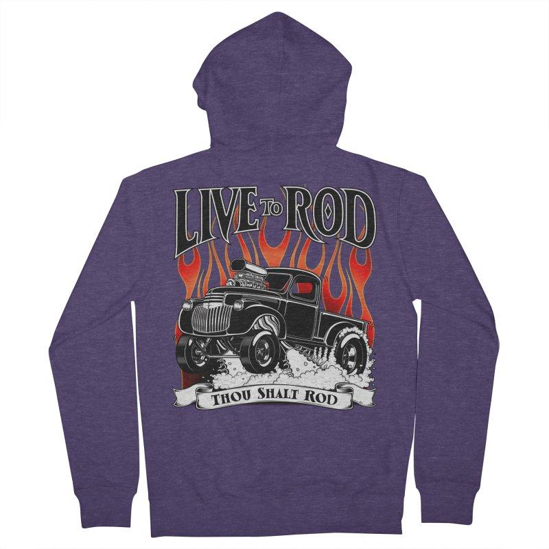 46' Chevy Gasser Pickup - Black Men's Zip-Up Hoody by screamnjimmy's Artist Shop