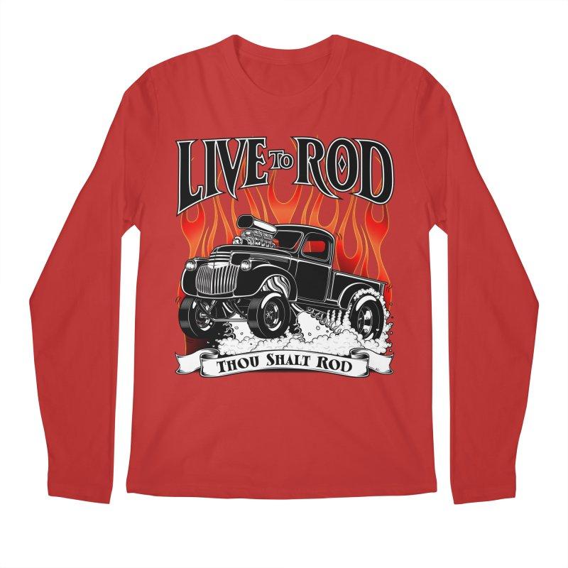 46' Chevy Gasser Pickup - Black Men's Regular Longsleeve T-Shirt by screamnjimmy's Artist Shop