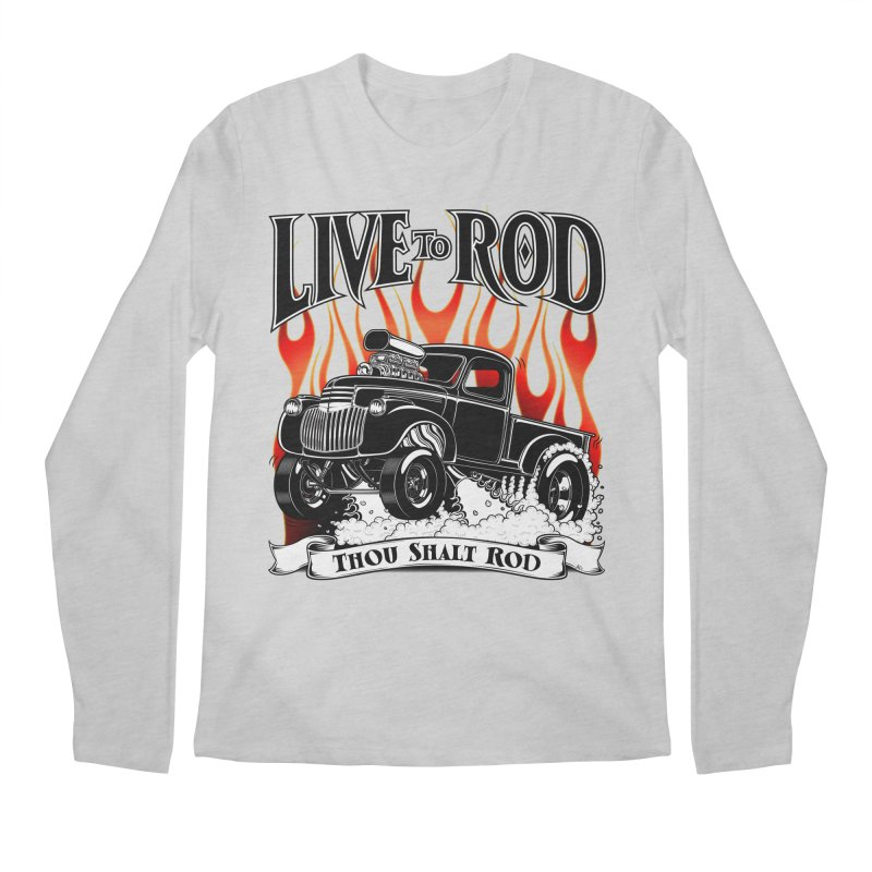 46' Chevy Gasser Pickup - Black Men's Longsleeve T-Shirt by screamnjimmy's Artist Shop