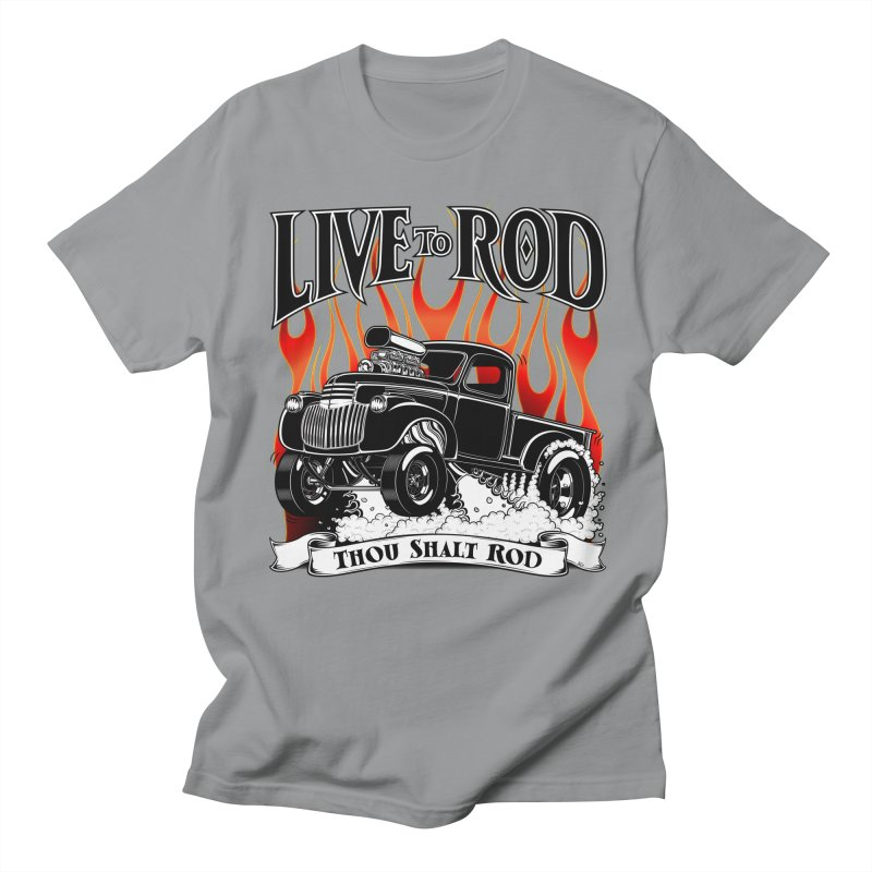 46' Chevy Gasser Pickup - Black Men's T-shirt by screamnjimmy's Artist Shop