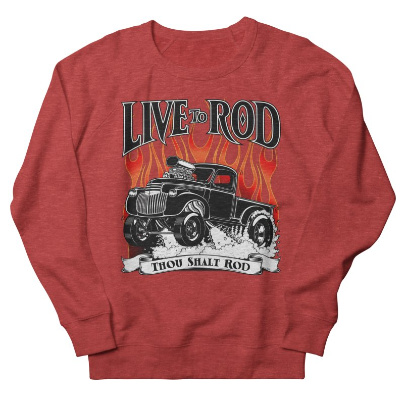 46' Chevy Gasser Pickup - Black Men's French Terry Sweatshirt by screamnjimmy's Artist Shop