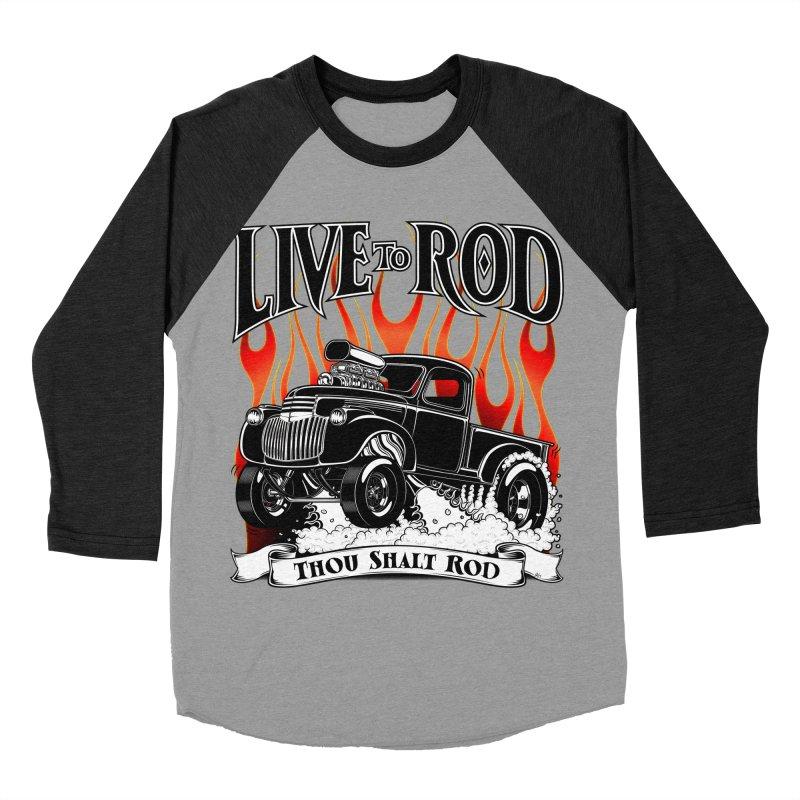 46' Chevy Gasser Pickup - Black Men's Baseball Triblend T-Shirt by screamnjimmy's Artist Shop