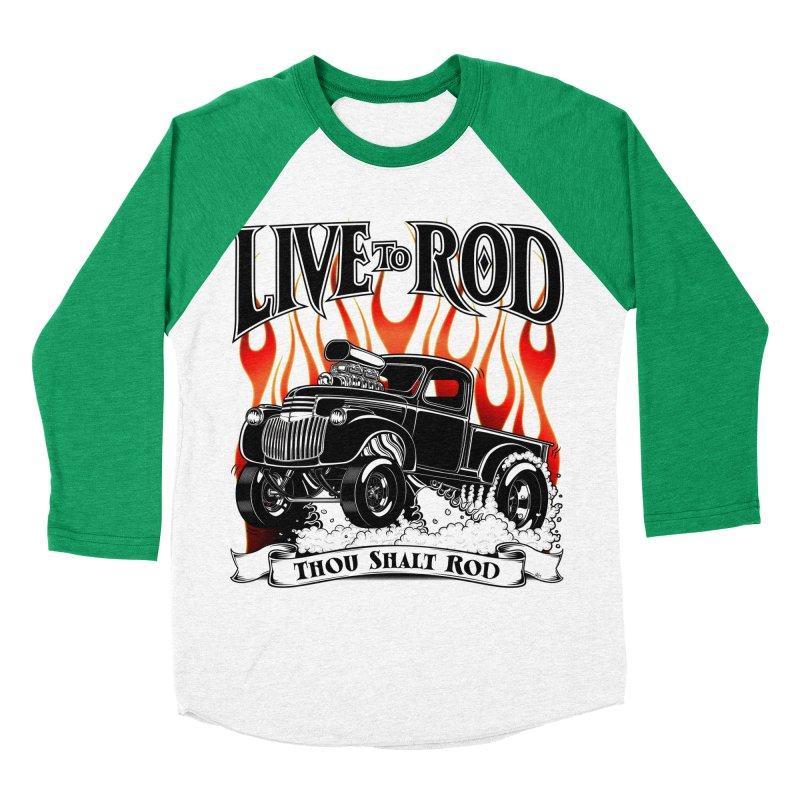 46' Chevy Gasser Pickup - Black Men's Baseball Triblend Longsleeve T-Shirt by screamnjimmy's Artist Shop
