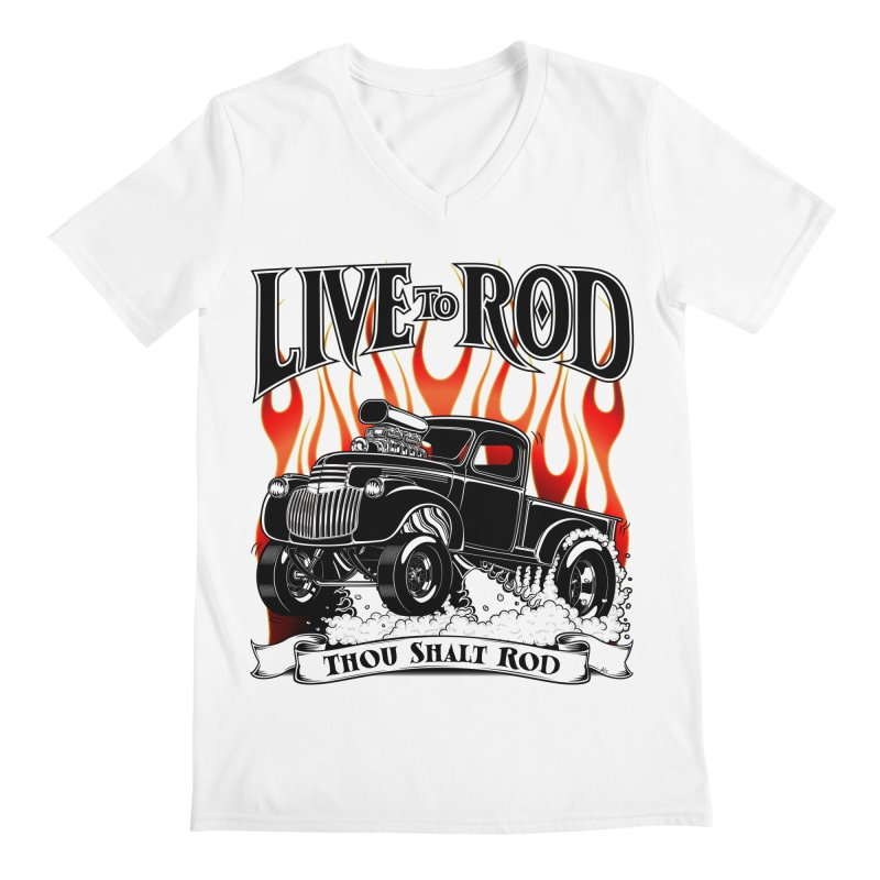 46' Chevy Gasser Pickup - Black Men's V-Neck by screamnjimmy's Artist Shop