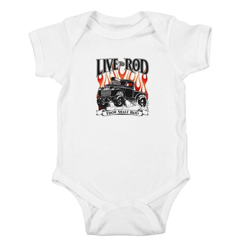 46' Chevy Gasser Pickup - Black Kids Baby Bodysuit by screamnjimmy's Artist Shop