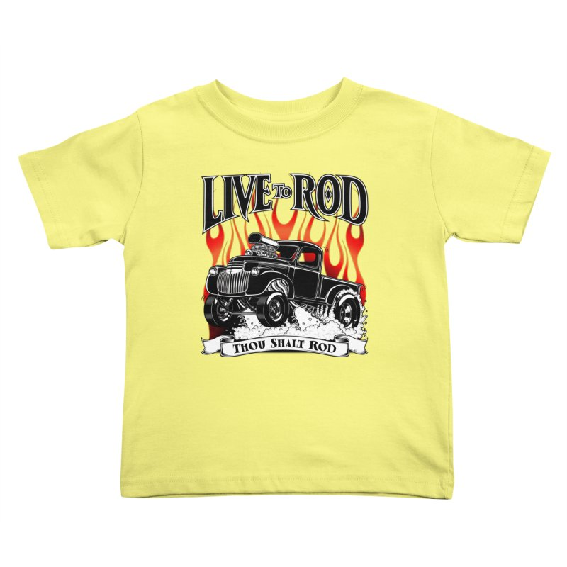 46' Chevy Gasser Pickup - Black Kids Toddler T-Shirt by screamnjimmy's Artist Shop