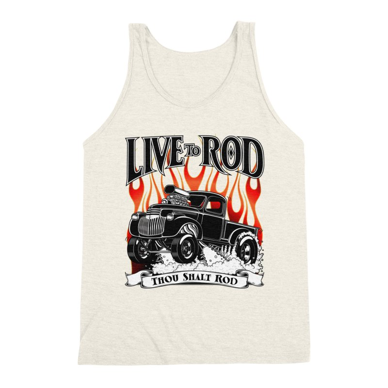 46' Chevy Gasser Pickup - Black Men's Triblend Tank by screamnjimmy's Artist Shop