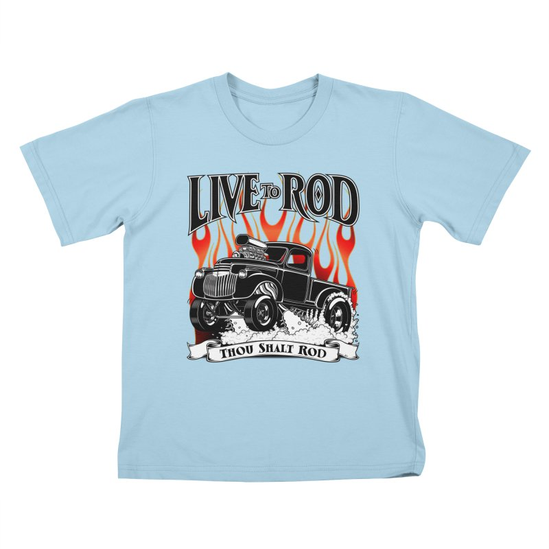 46' Chevy Gasser Pickup - Black Kids T-shirt by screamnjimmy's Artist Shop