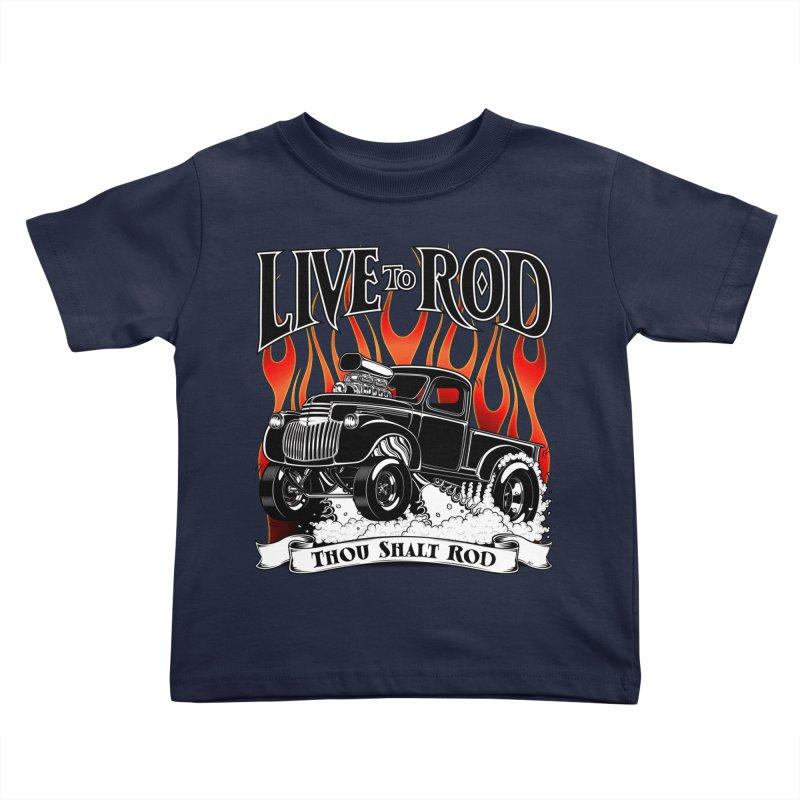 46' Chevy Gasser Pickup - Black Kids Toddler T-Shirt by screamnjimmy's Artist Shop