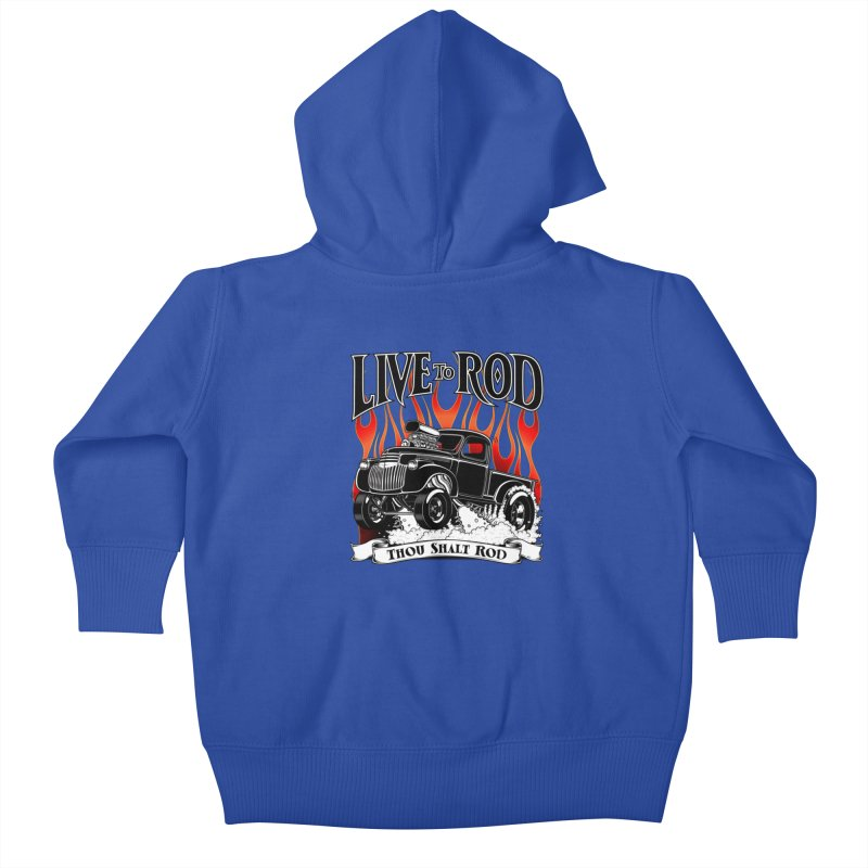 46' Chevy Gasser Pickup - Black Kids Baby Zip-Up Hoody by screamnjimmy's Artist Shop