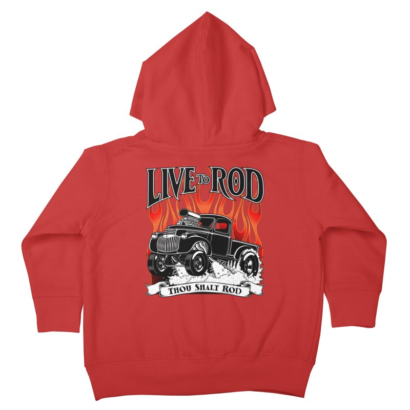 46' Chevy Gasser Pickup - Black Kids Toddler Zip-Up Hoody by screamnjimmy's Artist Shop