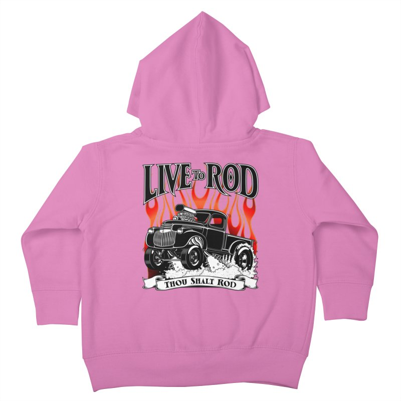 46' Chevy Gasser Pickup - Black Kids Toddler Zip-Up Hoody by screamnjimmy's Artist Shop