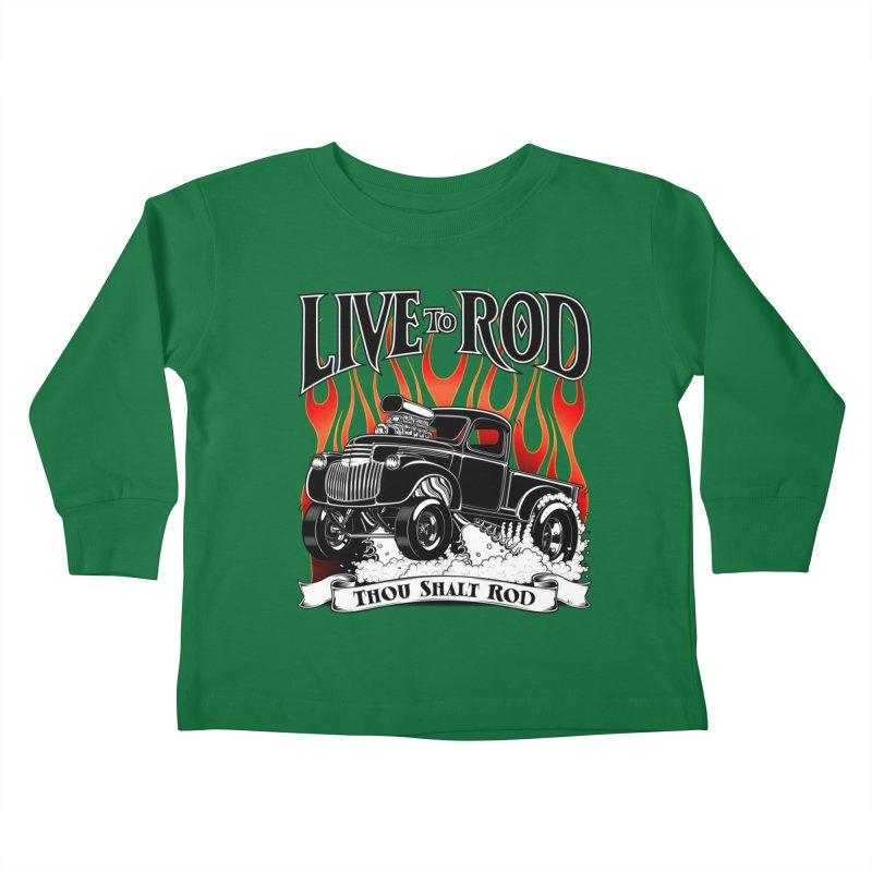 46' Chevy Gasser Pickup - Black Kids Toddler Longsleeve T-Shirt by screamnjimmy's Artist Shop