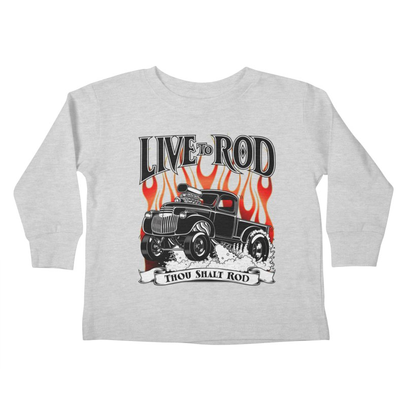 46' Chevy Gasser Pickup - Black Kids Toddler Longsleeve T-Shirt by screamnjimmy's Artist Shop