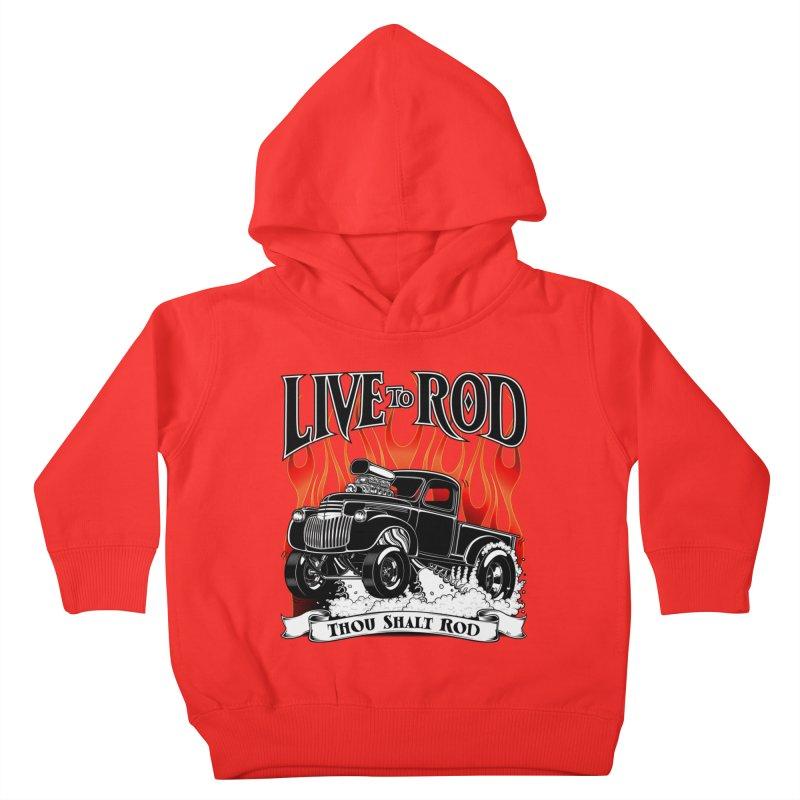 46' Chevy Gasser Pickup - Black Kids Toddler Pullover Hoody by screamnjimmy's Artist Shop