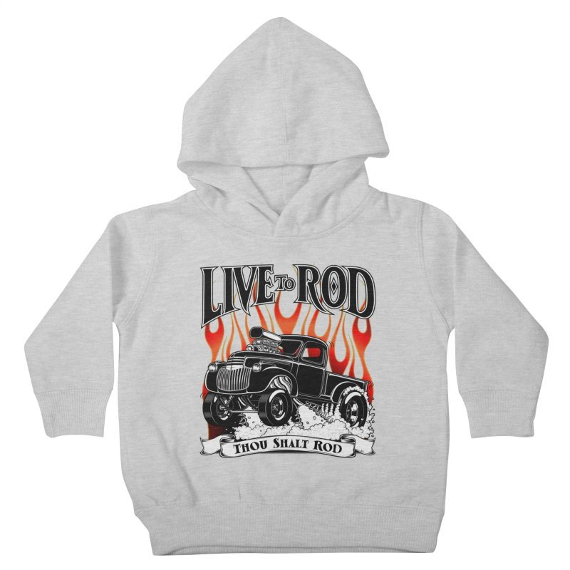 46' Chevy Gasser Pickup - Black Kids Toddler Pullover Hoody by screamnjimmy's Artist Shop