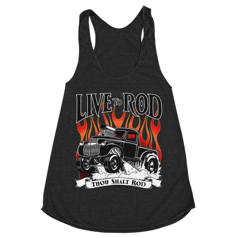 46' Chevy Gasser Pickup - Black Women's Racerback Triblend Tank by screamnjimmy's Artist Shop