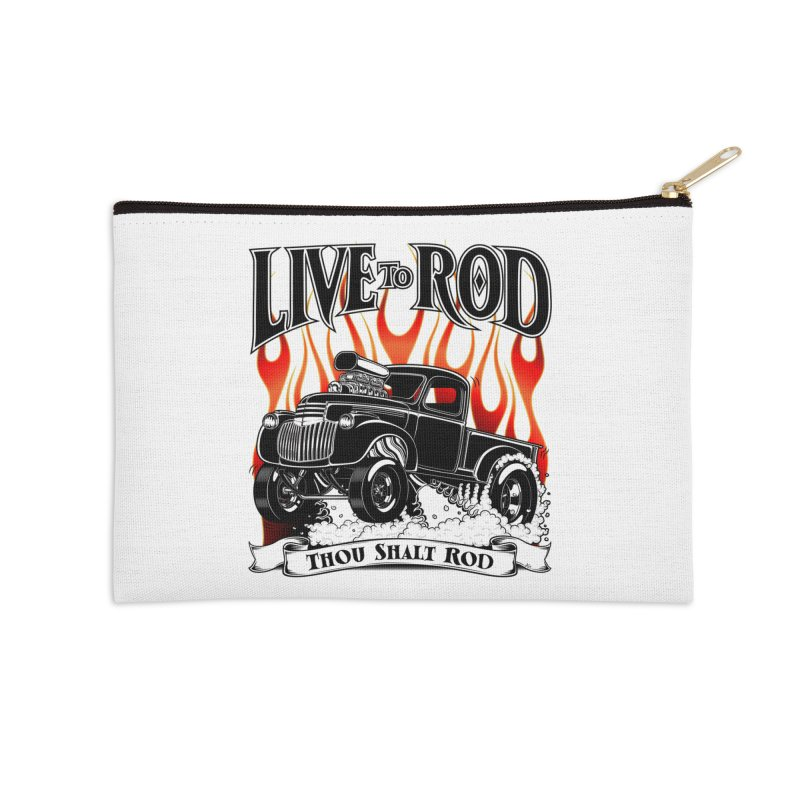 46' Chevy Gasser Pickup - Black Accessories Zip Pouch by screamnjimmy's Artist Shop