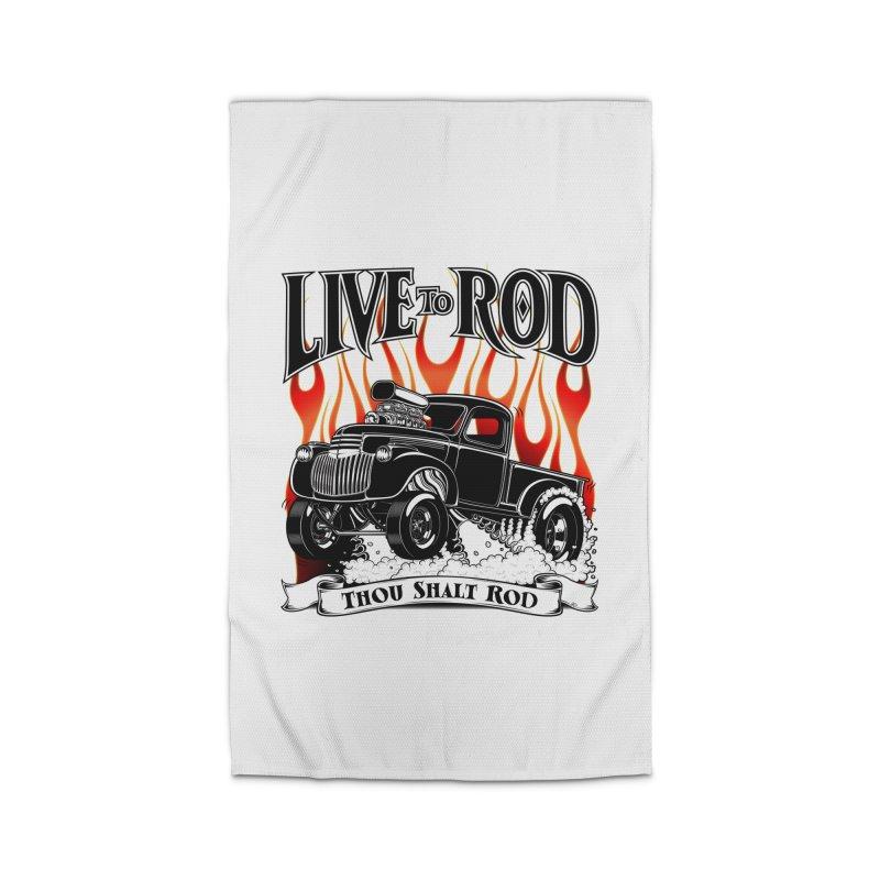 46' Chevy Gasser Pickup - Black Home Rug by screamnjimmy's Artist Shop