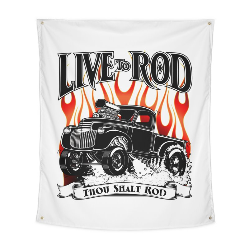 46' Chevy Gasser Pickup - Black Home Tapestry by screamnjimmy's Artist Shop