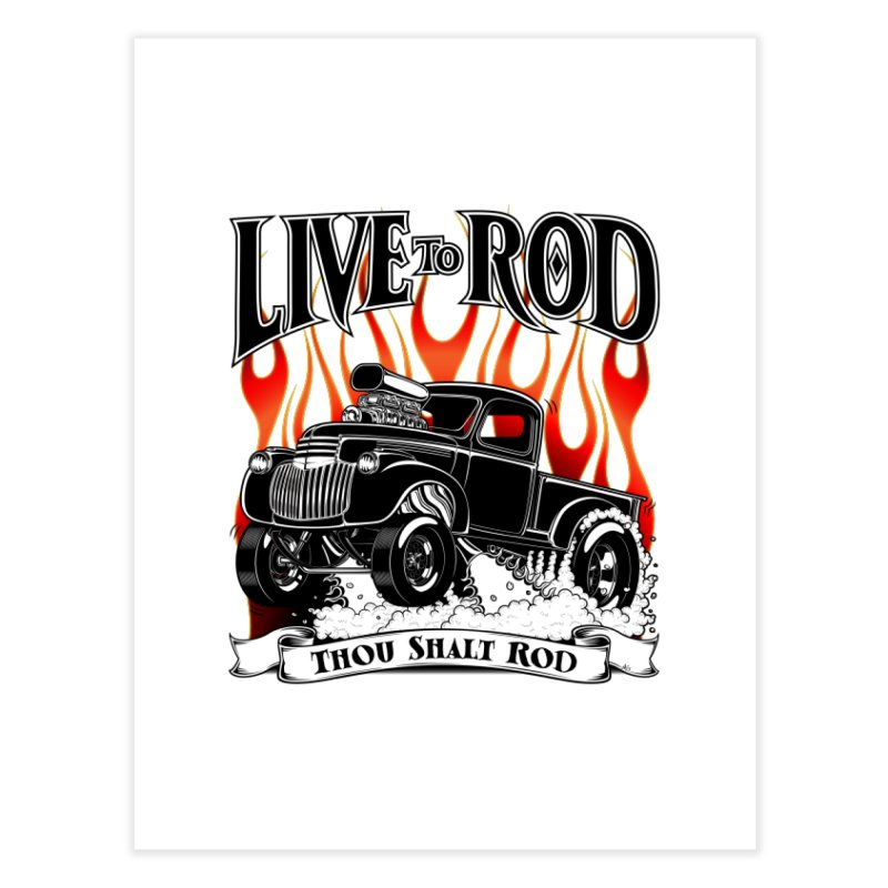 46' Chevy Gasser Pickup - Black Home Fine Art Print by screamnjimmy's Artist Shop
