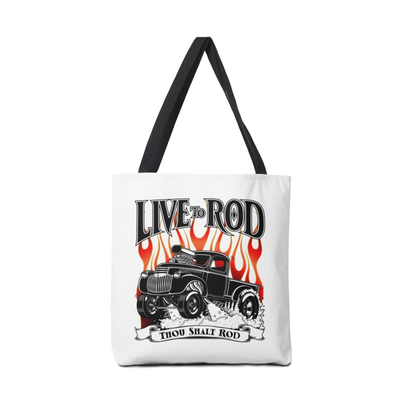 46' Chevy Gasser Pickup - Black Accessories Tote Bag Bag by screamnjimmy's Artist Shop