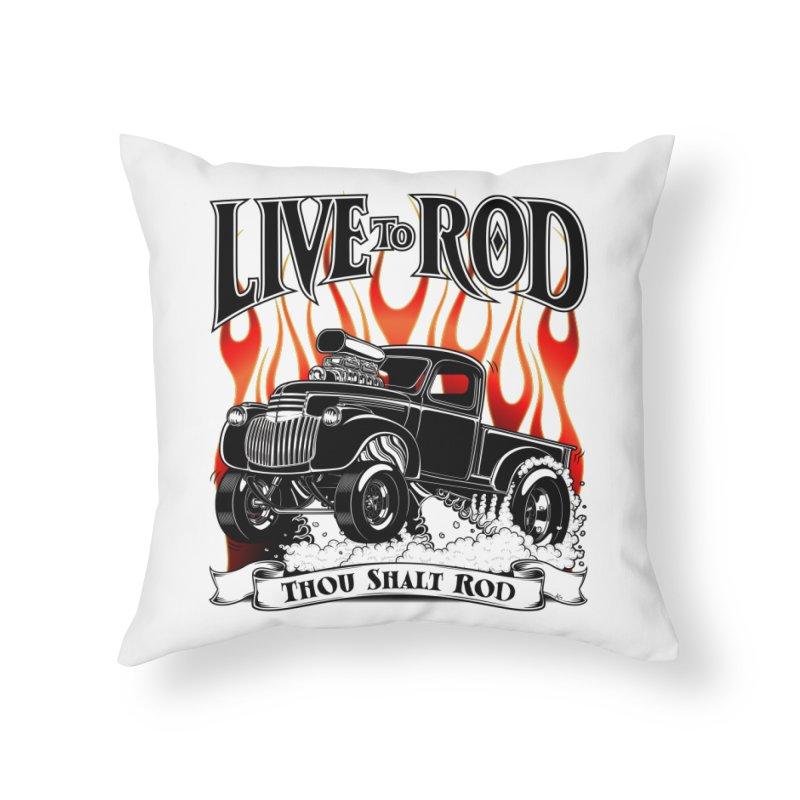 46' Chevy Gasser Pickup - Black Home Throw Pillow by screamnjimmy's Artist Shop