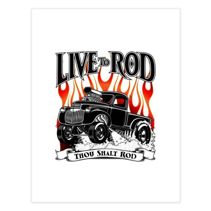 46' Chevy Gasser Pickup - Black Home Fine Art Print by screamnjimmy's Artist Shop