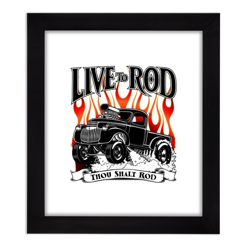 46' Chevy Gasser Pickup - Black Home Framed Fine Art Print by screamnjimmy's Artist Shop