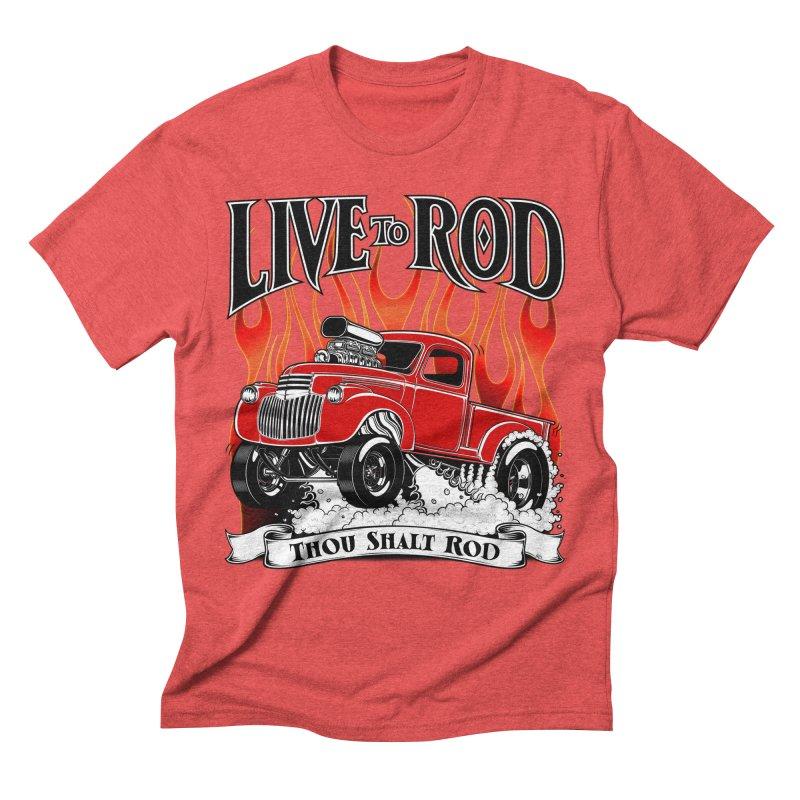 46' Chevy Gasser Pickup - RED Men's T-Shirt by screamnjimmy's Artist Shop