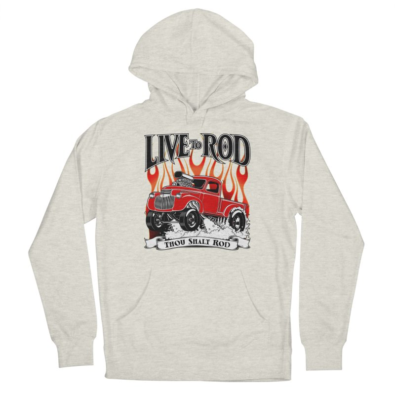 46' Chevy Gasser Pickup - RED Men's Pullover Hoody by screamnjimmy's Artist Shop