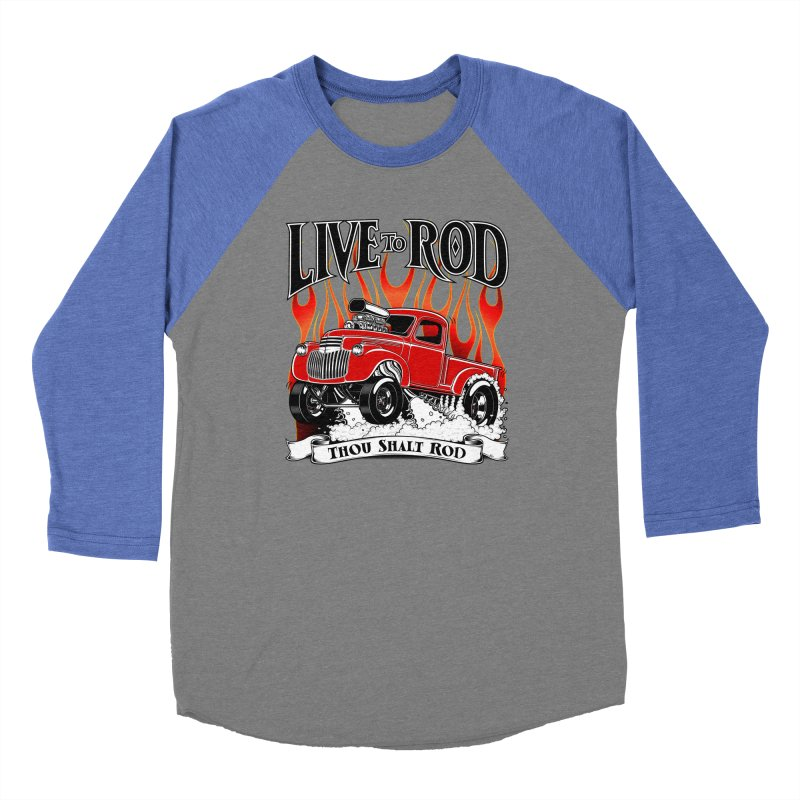 46' Chevy Gasser Pickup - RED Women's Baseball Triblend Longsleeve T-Shirt by screamnjimmy's Artist Shop