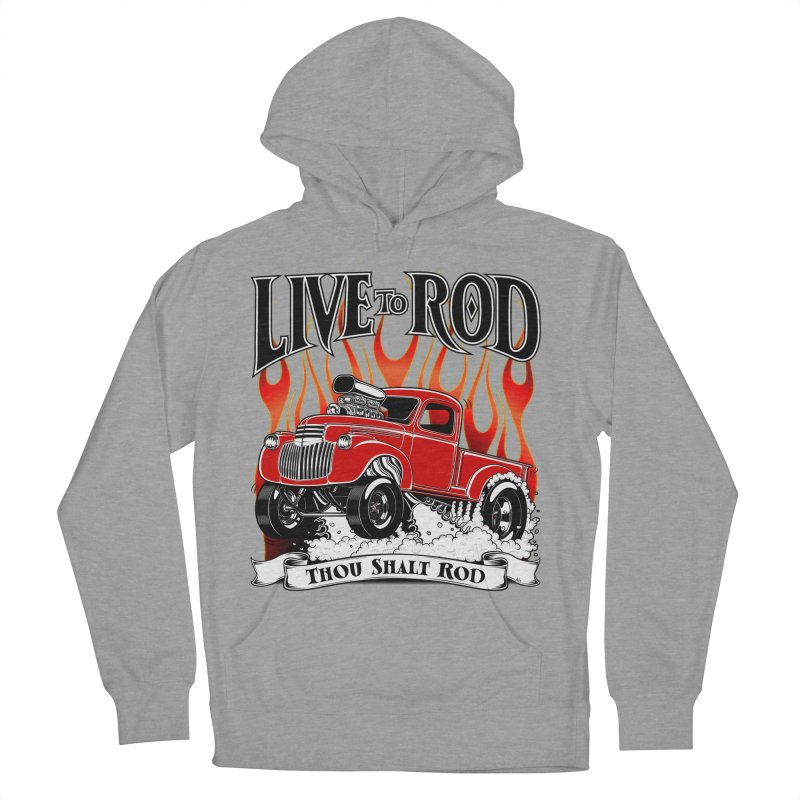 46' Chevy Gasser Pickup - RED Women's Pullover Hoody by screamnjimmy's Artist Shop