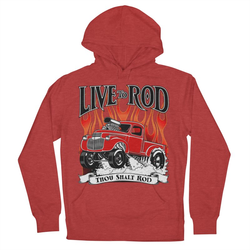 46' Chevy Gasser Pickup - RED Women's French Terry Pullover Hoody by screamnjimmy's Artist Shop