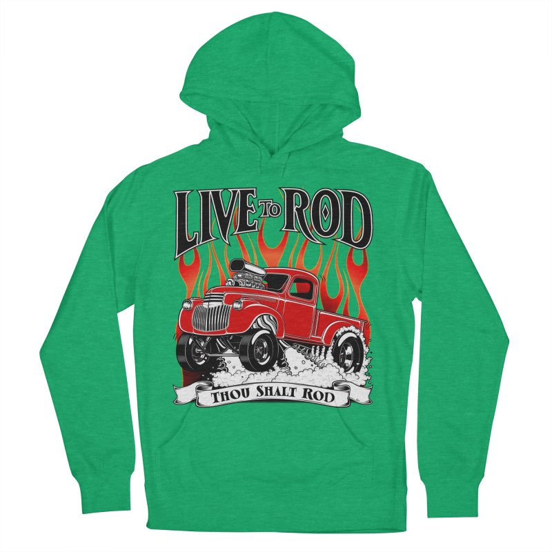 46' Chevy Gasser Pickup - RED Men's Pullover Hoody by screamnjimmy's Artist Shop
