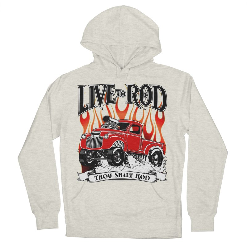 46' Chevy Gasser Pickup - RED Men's French Terry Pullover Hoody by screamnjimmy's Artist Shop