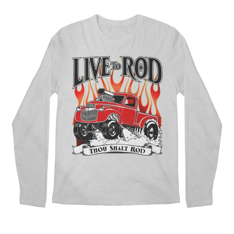 46' Chevy Gasser Pickup - RED Men's Longsleeve T-Shirt by screamnjimmy's Artist Shop