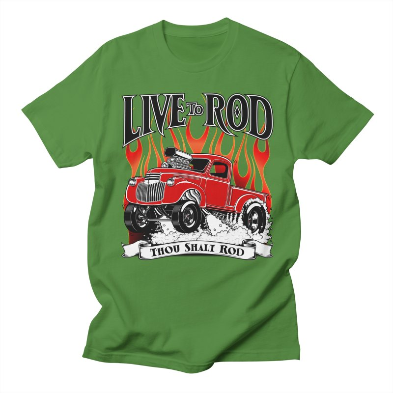 46' Chevy Gasser Pickup - RED Men's T-shirt by screamnjimmy's Artist Shop