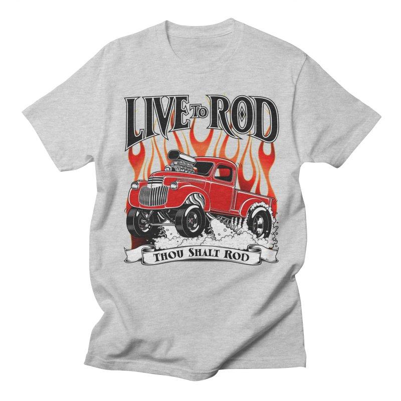 46' Chevy Gasser Pickup - RED Women's Regular Unisex T-Shirt by screamnjimmy's Artist Shop