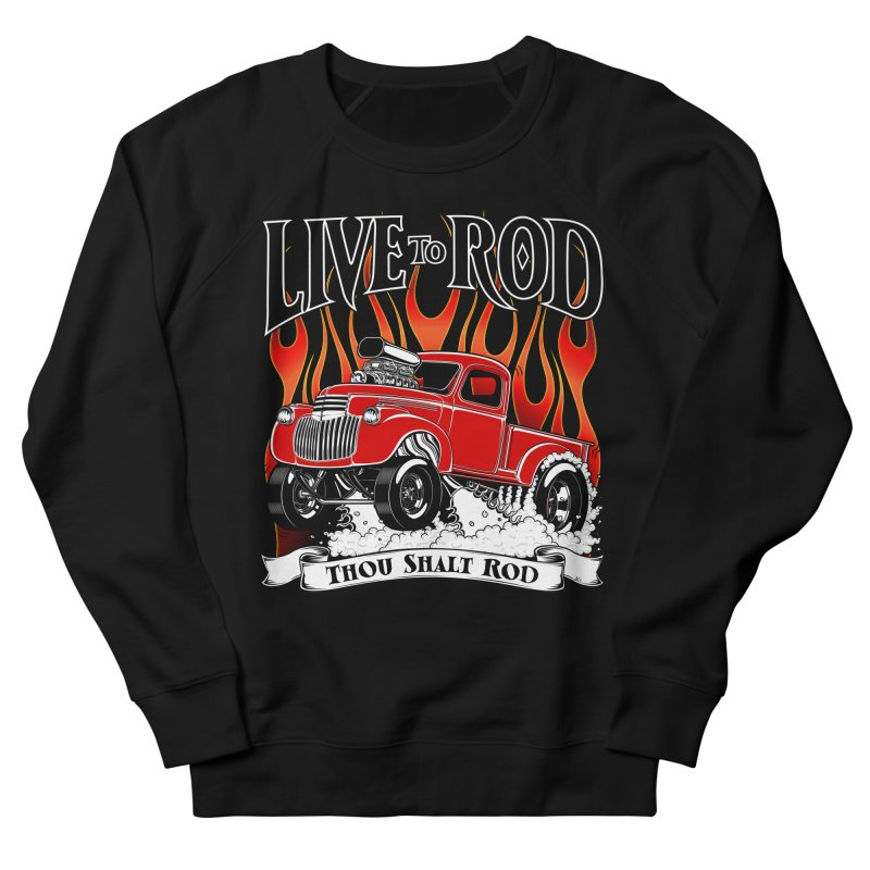 46' Chevy Gasser Pickup - RED Women's French Terry Sweatshirt by screamnjimmy's Artist Shop