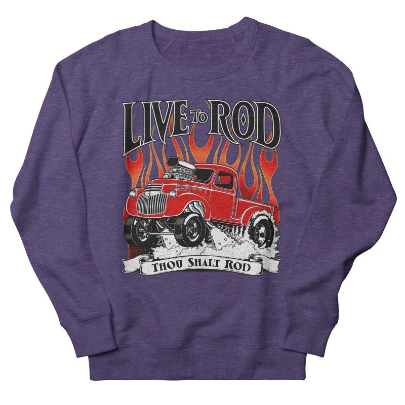 46' Chevy Gasser Pickup - RED Men's French Terry Sweatshirt by screamnjimmy's Artist Shop