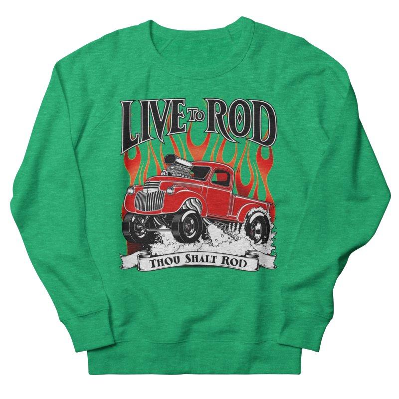 46' Chevy Gasser Pickup - RED Men's Sweatshirt by screamnjimmy's Artist Shop