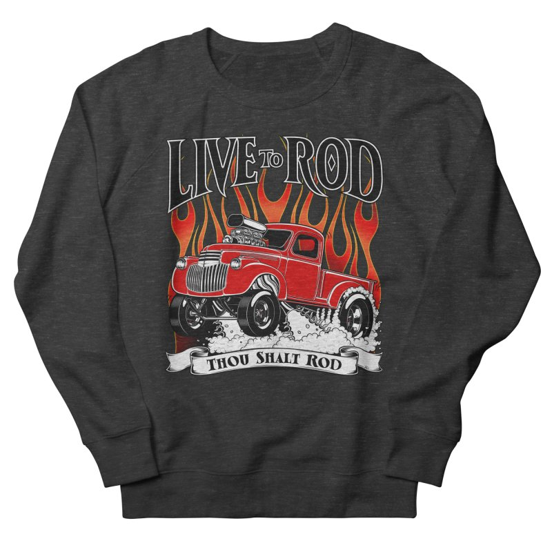 46' Chevy Gasser Pickup - RED Men's French Terry Sweatshirt by screamnjimmy's Artist Shop