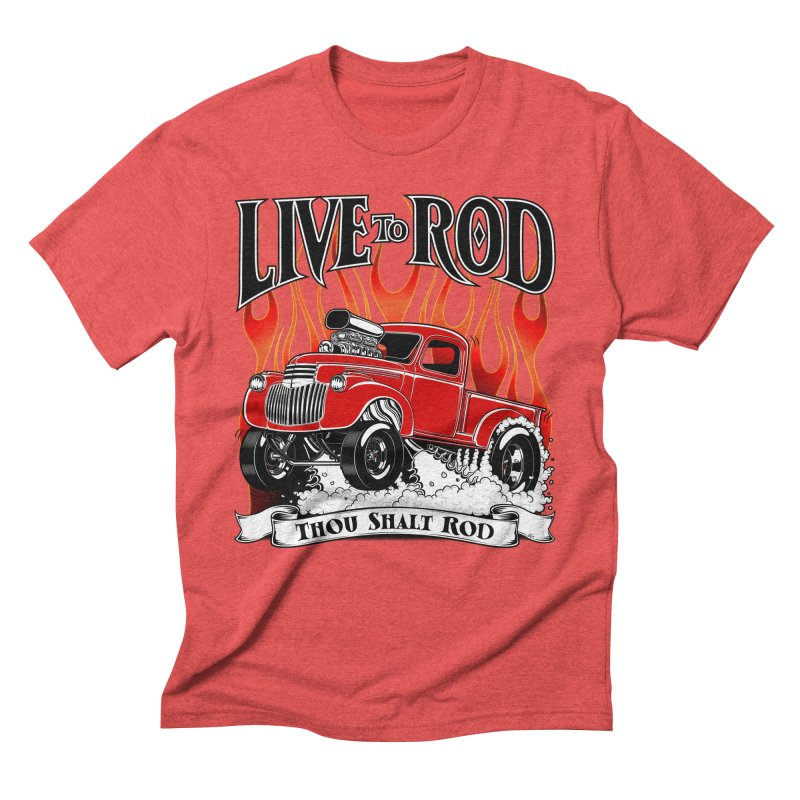 46' Chevy Gasser Pickup - RED Men's Triblend T-Shirt by screamnjimmy's Artist Shop