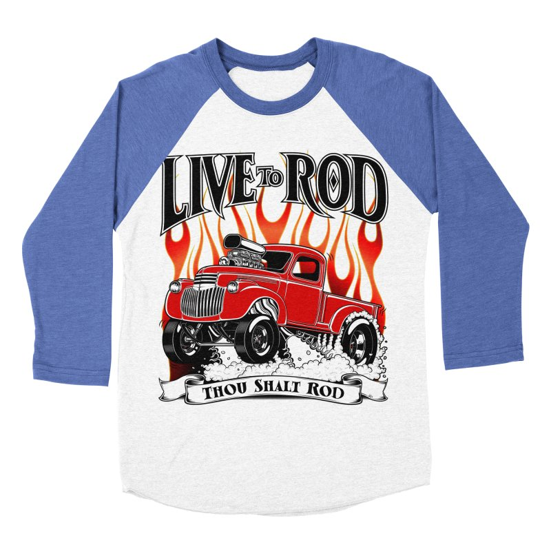46' Chevy Gasser Pickup - RED Women's Baseball Triblend Longsleeve T-Shirt by screamnjimmy's Artist Shop