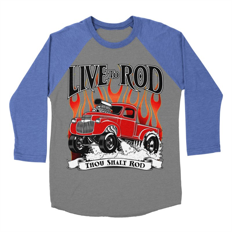 46' Chevy Gasser Pickup - RED Women's Baseball Triblend T-Shirt by screamnjimmy's Artist Shop